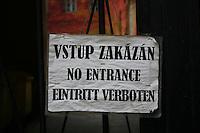 No entrance sign in Prague, Czech republic<br />