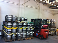 Left hand unit - Cold room to store the casks at temperature.<br /> <br /> Forklift to load, vans back in..