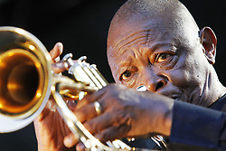 September 30, 2012 - Durban 011012: Hugh Masekela performs at the Old Mutual Music at the Lake in Botanic Gardens in Durban.Picture:Shelley Kjonstad/ African News Agency  (Credit Image: © Shelley Kjonstad/RealTime via ZUMA Wire)
