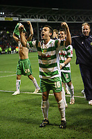 Photo: Rich Eaton.<br /> <br /> Nottingham Forest v Yeovil Town. Coca Cola League 1. Play off Semi Final 2nd Leg. 18/05/2007. Yeovils Andy Lidegaard celebrates victory by 5-2 over Forest