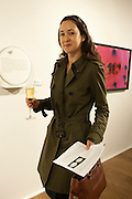 HELEN THORPE, Reception of the Silent Auction for the South London Gallery.  Hauser and Wirth. Savile Row. London. 13 October 2011. <br /> <br />  , -DO NOT ARCHIVE-© Copyright Photograph by Dafydd Jones. 248 Clapham Rd. London SW9 0PZ. Tel 0207 820 0771. www.dafjones.com.