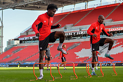September 1, 2017 - Toronto, Ontario, Canada - Samuel Adekugbe during open training session conference in Toronto before the Canada-Jamaica Men's International Friendly match at BMO Field in Toronto Canada September 2, 2017  (Credit Image: © Anatoliy Cherkasov/NurPhoto via ZUMA Press)