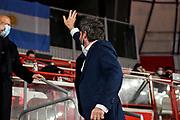 Gianmarco Pozzecco, Giornalisti Openjobmets Varese<br /> Openjobmets Varese - Banco di Sardegna Dinamo Sassari<br /> LBA Legabasket Serie A UnipolSai 2020-2021<br /> Varese, 06/03/2021<br /> Foto L.Canu / Ciamillo-Castoria