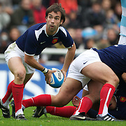 French scrum half Morgan Parr, in action during the Argentina V France test match at Estadio Jose Amalfitani, Buenos Aires,  Argentina. 26th June 2010. Photo Tim Clayton..