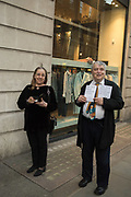 MANUELA MENA, NORMAN ROSENTHAL, Opening of The New Royal Academy of arts, London. 15 May 2018
