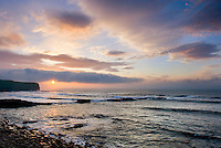 Sunset on Brough Head North Coast of Orkney Islands Mainland Scotland