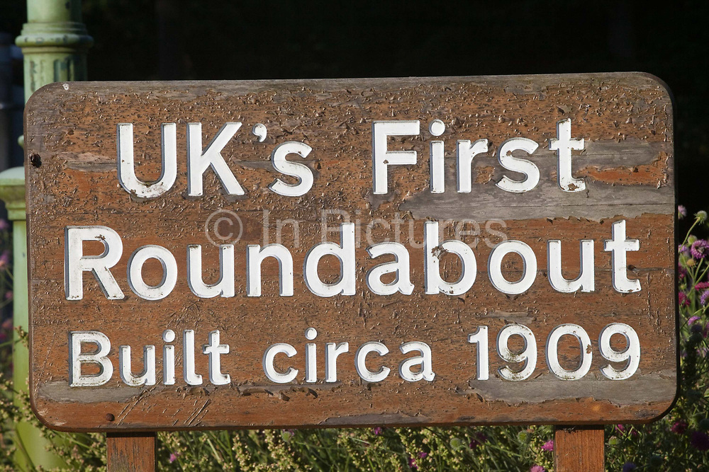 """Britains first roundabout built in c.1909<br /> In 1898 Ebenezer Howard published his book """"Tomorrow: A Peaceful Path to Reform"""" (later """"Garden Cities of Tomorrow"""") founding the Garden Cities Association. His plan was to create a new, planned  settlement that combined the best of town and country - the first of which became Letchworth Garden City in 1903, laid out by architects Barry Parker and Raymond Unwin. It was followed in 1920 by a second garden city at Welwyn. The movement inspired Garden Cities in Europe and currently has been revived as a potential solution to Britain's housing crisis"""