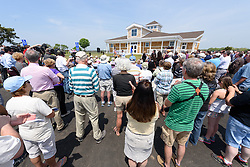 Overview of the Ribbon Cutting Ceremony for the New Meigs Point Nature Center at Hammonasset Beach State Park. A Connecticut State Project No: BI-T-601   Northeast Collaborative Architects  Contractor: Secondino & Son