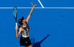 PORTOROZ, SLOVENIA - SEPTEMBER 17:  Kaja Juvan of Slovenia playing in 3rd Round of the WTA 250 Zavarovalnica Sava Portoroz at SRC Marina, on September 17, 2021 in Portoroz / Portorose, Slovenia. Photo by Vid Ponikvar / Sportida