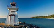 lighthouse on Georgian Bay on the Bruce Peninsula<br /> Lion's Head<br /> Ontario<br /> Canada