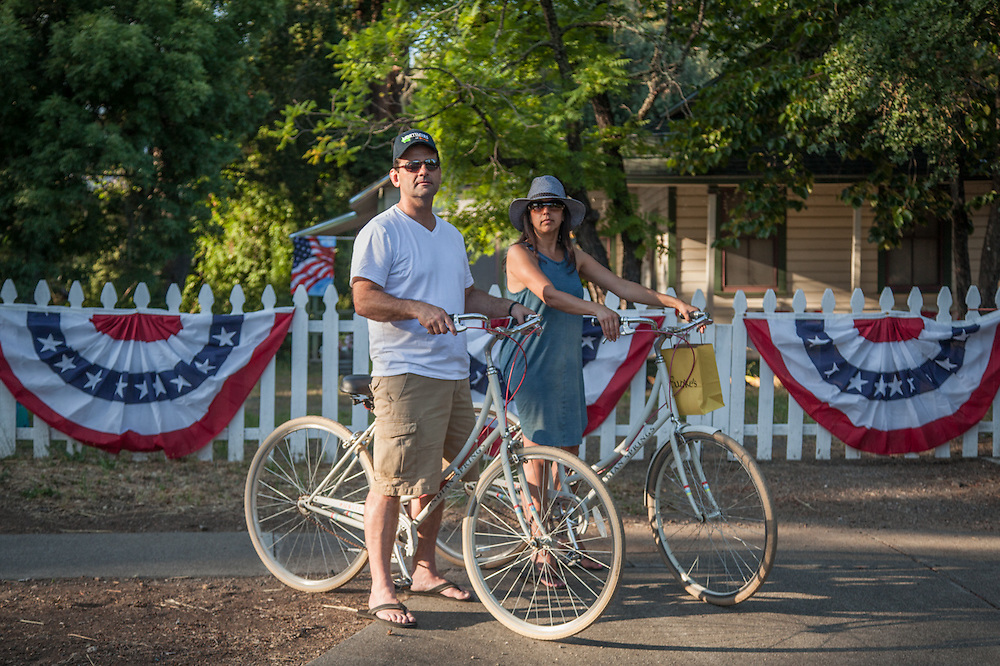 """""""Calistoga is our favorite getaway.""""  -Danville residents and Indian Springs guests Adam and Kim Zuro at the west end of Cedar Street."""