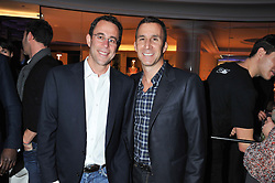 Left to right JEFF T.BLAU president of Related Companies and HARVEY SPEVAK chief executive officer of Equinox Holdings Inc. at the launch of famed American fitness club 'Equinox' 99 High Street Kensington, London on 23rd October 2012.