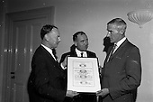 1967 - Presentation of new Fishery Standards Licence at the Shelbourne Hotel