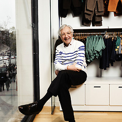 PARIS, FRANCE. JANUARY 4, 2011. Christian Blanckaert, Petit Bateau's CEO, in the brand's Champs-Elysee shop. (photo by Antoine Doyen)