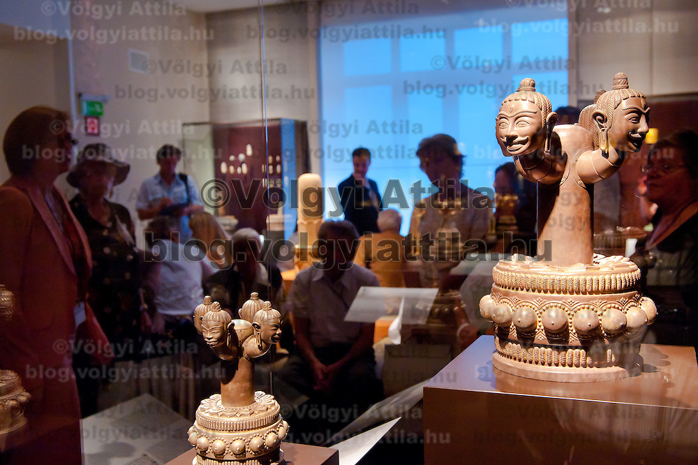 Artifacts displayed in the Southeast Gold Museum that presents hundreds of golden artifacts from the private collection of founder Istvan Zelnik in Budapest, Hungary on September 15, 2011. ATTILA VOLGYI