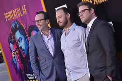 """(L-R) Charlie Collier, Evan Goldberg and Seth Rogen together at AMC's """"Preacher"""" Season 2 Premiere Screening held at the Theater at the Ace Hotel in Los Angeles, CA on Tuesday, June 20, 2017.  (Photo By Sthanlee B. Mirador) *** Please Use Credit from Credit Field ***"""