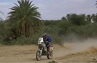 Motor - Motorsykkel. Paris-Dakar 2002. Pål Anders Ullevålseter, Norge. <br />Foto: Gilles Levent, Digitalsport