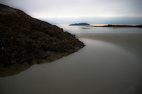 Early morning light at Wya Point near Pacific Rim Park Vancouver Island BC creates appearance as a mystery beach.