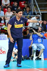 DAVIDE MAZZANTI (ALLENATORE ITALIA)<br /> ITALIA - RUSSIA<br /> PALLAVOLO VNL VOLLEY PERUGIA <br /> PERUGIA 13-06-2019<br /> FOTO GALBIATI - RUBIN