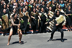 The Duke and Duchess of Sussex are greeted with a haka, at Te Papaiouru, Ohinemutu, in Rotorua, New Zealand, before a lunch in honour of Harry and Meghan, on day four of the royal couple's tour of New Zealand.