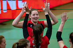 Anne Swart of VCN in action during the cupfinal between Laudame Financials VCN vs. Apollo 8 on April 05, 2021 in sports hall MartiniPlaza, Groningen