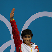 Shiwen Ye, China, winning the Gold Medal in the Women's  200m Individual Medley Final at the Aquatic Centre at Olympic Park, Stratford during the London 2012 Olympic games. London, UK. 31st July 2012. Photo Tim Clayton