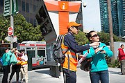 Representatives from both AC Transit and Muni were on hand to help customers find where to go. A Bart strike caused chaos for commuters coming in and out of San Francisco. AC Transit and San Francisco Bay Ferry managed the trans bay commutes, while Muni handled the dissplaced commuters within San Francisco.   July 2, 2013