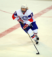 Ishockey<br /> VM U18 2011<br /> Foto: imago/Digitalsport<br /> NORWAY ONLY<br /> <br /> 14.04.2011<br /> <br /> Dresden, EnergieVerbund Arena: Eishockey IIHF U18 Weltmeisterschaft, Vorrunde<br /> <br /> Finland v Norge<br /> <br /> Norwegens Jonas Knutsen (Timrå)