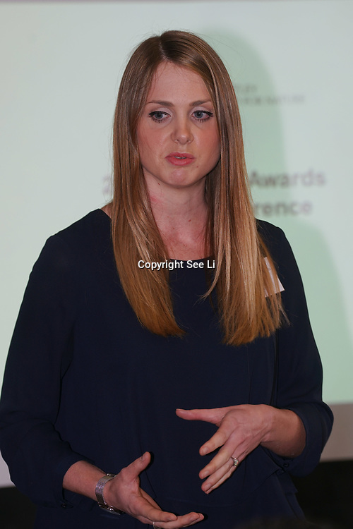London,England,UK. 17th May 2017. Danni Parks Deputy Director presenter of the 2017 Whitley Awards holds a Press conference at The Royal Geographical Society. by See Li