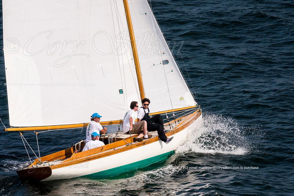 Surprise sailing in the Panerai Newport Classic Yacht Regatta, day one.