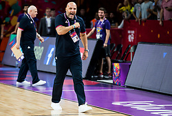 Sasha Aleksandar Djordjevic, head coach of Serbia celebrates after winning during basketball match between National Teams of Russia and Serbia at Day 16 in Semifinal of the FIBA EuroBasket 2017 at Sinan Erdem Dome in Istanbul, Turkey on September 15, 2017. Photo by Vid Ponikvar / Sportida