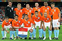 Fotball<br /> Nederland / Holland<br /> Foto: ProShots/Digitalsport<br /> NORWAY ONLY<br /> <br /> Nederland / Holland v Ukrania<br /> <br /> rotterdam 24-05-2008 oefeninterland nederland - oekraine 3-0 elftalfoto teamfoto voor: van der vaart , van bronckhorst , bouma , afellay , de zeeuw . achter :  stekelenburg , kuyt , heitinga , ooijer , engelaar , huntelaar<br /> <br /> Lagbilde Nederland