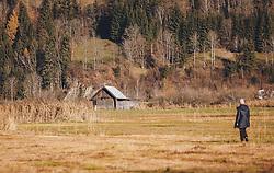 THEMENBILD - ein Holzstadl im Naturschutzgebiet, aufgenommen am 18. November 2020, Zell am See, Österreich // a Holzstadl in a nature reserve on 2020/11/18, Zell am See, Austria. EXPA Pictures © 2020, PhotoCredit: EXPA/ Stefanie Oberhauser