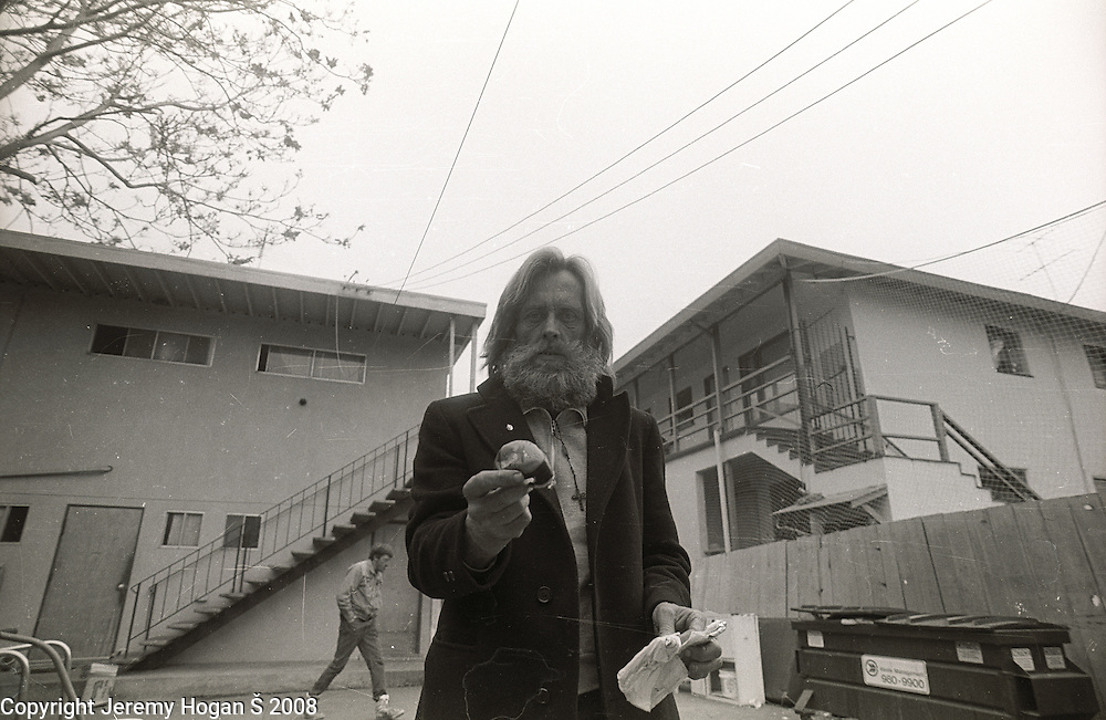 Skip Spence spends the afternoon outside a half way house during early March 1994 in Downtown San Jose, Calif. Skip Spencer was once the drummer from Jefferson Airplane and the leader of the influential band Moby Grape. At age 21 Spencer had a nervous breakdown and spent the next three decades in and out of mental institutions and half way houses. In the 1960s Spence, who was often called Spencer, was friends with many in the San Francisco rock scene including Janis Joplin.