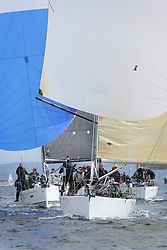 The Silvers Marine Scottish Series 2014, organised by the  Clyde Cruising Club,  celebrates it's 40th anniversary.<br /> Day 2 GBR5991T, Prime Suspect, Charlie Frize, CCC, Mills 36.<br /> Racing on Loch Fyne from 23rd-26th May 2014<br /> <br /> Credit : Marc Turner / PFM