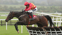 Klassical Dream ridden by Ruby Walsh jumps the last to win The Herald Champion Novice Hurdle during day one of the Punchestown Festival at Punchestown Racecourse, County Kildare, Ireland.