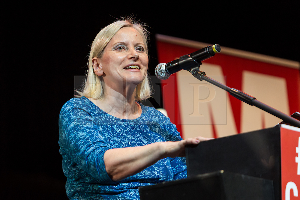 **File picture of CHRISTINE SHAWCROFT  who has resigned from The head of the Labour Party's disputes panel after it emerged she opposed the suspension of a council candidate accused of Holocaust denial**<br /> © Licensed to London News Pictures. 07/07/2016. LONDON, UK.  Labour Party NEC, CHRISTINE SHAWCROFT speaking at a rally in support of keeping Jeremy Corbyn remaining the Labour party leader at the Troxy in east London on 6th July 2016. .  Photo credit: Vickie Flores/LNP