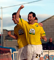 Photo: Jed Wee/Sportsbeat Images.<br /> Hartlepool United v Hereford United. Coca Cola League 2. 03/03/2007.<br /> <br /> Hereford's Steven Guinan celebrates after scoring their second equaliser.