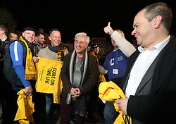 Speaker of the House of Commons John Bercow arrives for the Emirates FA Cup, Fifth Round match at Gander Green Lane, London.
