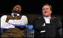 British Prime Minister David Cameron with Shaun Bailey during Conservative Party Conference, Manchester, UK, October 4, 2011. Photo By Andrew Parsons / i-Images.