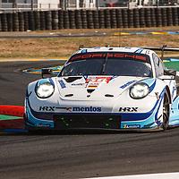 #56, Porsche 911 RSR, Team Project 1, drivers: Matteo Cairoli, Egidio Perfetti, Larry ten Voorde, LM GTE Am, at the Le Mans 24H, 2020