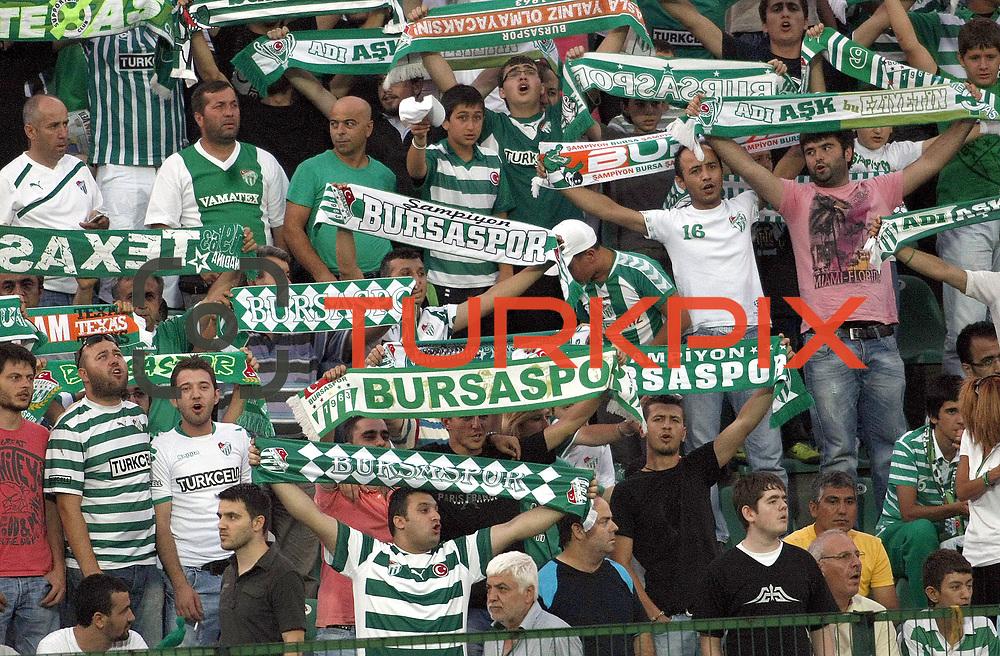 Bursaspor's supporters during their UEFA Europa League Third qualifying round, First leg soccer match Bursaspor between Gomel at the Ataturk stadium in Bursa Turkey on Thursday 28 July 2011. Photo by TURKPIX