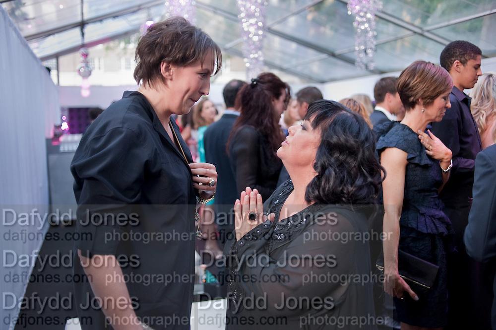 MIRANDA HART; DAWN FRENCH, Glamour Women of the Year Awards 2011. Berkeley Sq. London. 9 June 2011.<br /> <br />  , -DO NOT ARCHIVE-© Copyright Photograph by Dafydd Jones. 248 Clapham Rd. London SW9 0PZ. Tel 0207 820 0771. www.dafjones.com.