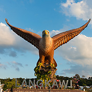 Eagle statue in Langkawi harbor, Malaysia