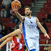 Anadolu Efes's Dogus Balbay (F) during their Turkish Basketball League match Anadolu Efes between Tofas at the Abdi ipekci Arena in Istanbul, Turkey on Tuesday, 24 December, 2013. Photo by TURKPIX