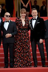 May 16, 2019 - Cannes, France - 72nd Cannes Film Festival 2019, Red Carpet film : Rocket Man.Pictured: Bernie Taupin, Taron Egerton, Bryce Dallas Howard (Credit Image: © Alberto Terenghi/IPA via ZUMA Press)