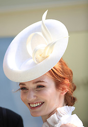 Eleanor Tomlinson presents the trophy the Jersey Stakes during day two of Royal Ascot at Ascot Racecourse.