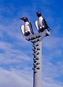 Murre Pole at Klawock Totem Park, Prince of Wales Island, Alaska.