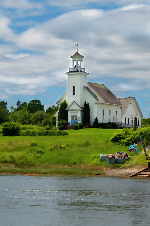 This church is across the water from the Keag Store in So. Thomaston, Maine.