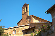 Romanesque Chapel - San Gimignano - Italy .<br /> <br /> Visit our ITALY PHOTO COLLECTION for more   photos of Italy to download or buy as prints https://funkystock.photoshelter.com/gallery-collection/2b-Pictures-Images-of-Italy-Photos-of-Italian-Historic-Landmark-Sites/C0000qxA2zGFjd_k<br /> If you prefer to buy from our ALAMY PHOTO LIBRARY  Collection visit : https://www.alamy.com/portfolio/paul-williams-funkystock/sangimignano.html